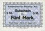 Banknoten Allemagne. Blankenburg. Kriegsgefangenenlager. Billet. 2 mark 27.1.1917