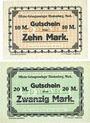 Banknoten Allemagne. Blankenburg. Offizier - Gefangenenlager. Billets. 10 mark, 20 mark n. d.