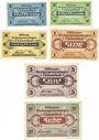 Banknoten Allemagne. Clausthal. Offizier - Gefangenenlager. Billets. 5, 10, 50 pfennig, 1, 5, 10 mark déc 1917