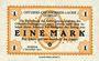 Banknoten Allemagne. Döbeln. Offizier- Gefangenenlager. Billet. 1 mark 1.12.1917