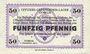 Banknoten Allemagne. Döbeln. Offizier- Gefangenenlager. Billet. 50 pf 1.12.1917