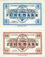 Banknoten Allemagne. Döbeln. Offizier- Gefangenenlager. Billets. 5 mark, 10 mark 1.12.1917
