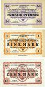Banknoten Allemagne. Döbeln. Offizier- Gefangenenlager. Billets. 50 pf, 1 mk, 10 mk 1.12.1917