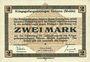 Banknoten Allemagne. Golzern. Kriegsgefangenenlager. Billet. 2 mark 1.2.1916, sans cachet