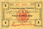 Banknoten Allemagne. Holzminden. Kriegsgefangenenlager. Billet. 1 pfennig octobre 1915