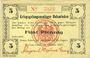 Banknoten Allemagne. Holzminden. Kriegsgefangenenlager. Billet. 5 pfennig octobre 1915