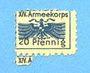 Banknoten Allemagne. Karlsruhe. XIV. Armeekorps. Scheckmarken. Billet. 20 pf n. d.