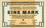Banknoten Allemagne. Königsbrück. Kriegsgefangenenlager - Truppenplatz Königsbrück. Billet. 1 mark 1.10.1915
