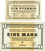 Banknoten Allemagne. Königsbrück. Kriegsgefangenenlager - Truppenplatz Königsbrück. Billets. 1 pf, 1 mk 1915
