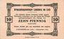 Banknoten Allemagne. Landsberg. Kriegsgefangenenlager. Billet. 10 pf 1.12.1916