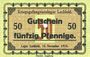 Banknoten Allemagne. Lechfeld. Kriegsgefangenenlager. Billet. 50 pf 15.11.1915. Signature imprimée en noir/dos