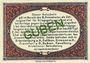 Banknoten Guben. Inspektion der KGL im Bereich des XIII. Armeekorps. Billet. 10 pf 1.10.1917