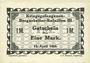 Banknoten Lieu d'émission inconnu. Kriegsgefangenen - Bergarbeiter-Bataillon III. Billets. 1 mark 15.4.1918