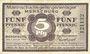 Banknoten Merseburg. Mannschaftsgefangenenlager. Billet. 5 pf 1.1.1916