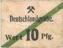 Banknoten Schwientochlowitz (Swietochlowice, Pologne). Deutschlandgrube. Billet. 10 pf n.d., cachet rouge