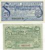 Banknoten Allemagne. Biedenkopf. Stadt. Billets. 25 pf, 50 pf 15.8.1920