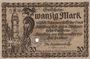 Banknoten Altenburg. Stadt. Billet. 20 mark 15.11.1918, cachet, perforation