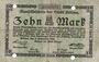 Banknoten Altona. Stadt. Billet. 10 mark 28.10.1918, timbre sec, perforations