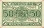 Banknoten Anhalt. Herzogliche F. D. Billet. 50 mark 1.11.1918, Annulation par traits en diagonal