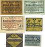 Banknoten Annaberg. Stadt. Billets. 5, 10, 50 pf n.d.  + 10, 50 pf n.d. + 50 pf n.d. (1920)