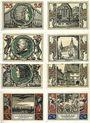 Banknoten Arnstadt. Stadt. Billets. 25 pf (6ex), 50 pf (2ex) 1921