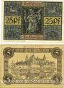 Banknoten Aschaffenburg. Stadt. Billets. 25 pf, 5 mark n.d.