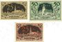 Banknoten Aschersleben. Stadt. Billets. 25 pf, 50 pf 5.3.1920-31.3.1921 ; 25 pf 5.3.1920-31.3.1922