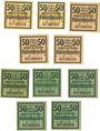 Banknoten Babenhausen. Markt. Billets. 50 pf 1918 (5ex), 50 pf 1920 (1921) (5ex)