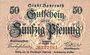 Banknoten Bayreuth. Stadt. Billet. 50 pfennig 22.10.1918