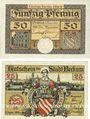 Banknoten Beckum. Stadt. Billets. 50 pf 1.11.1918 ; 25 pf 1.11.1920