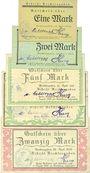 Banknoten Berchtesgaden. Distrikt. Billets. 1, 2, 5, 10, 20 mark 28.4.1919