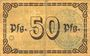 Banknoten Berchtesgaden. Marktgemeinde. Billet. 50 pfennig 18.7.1917