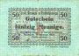 Banknoten Berneck im Fichtelgebirge. Stadt. Billet. 50 pf janvier 1917