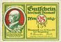 Banknoten Bismark. Stadt. Billet. 25 pf 18.3.1921, numérotation à 3 chiffres