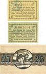 Banknoten Bitburg. Stadt. Billets. 25 pf, 50 pf n.d. ; 25 pf 1.4.1920