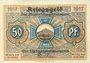 Banknoten Blankenburg Bad. Stadt. Billet. 50 pfennig 1917