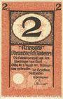 Banknoten Blaubeuren. Amtskörperschaft. Billet. 2 mark n.d. - 1.8.1919