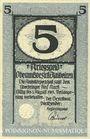 Banknoten Blaubeuren. Amtskörperschaft. Billet. 5 mark n.d. - 1.8.1919