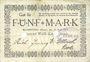 Banknoten Blumenthal. Bremer Wollkämmerei. Billet. 5 mark 22.4.1919, annulation par perforation