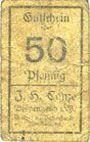 Banknoten Borgentreich. J.H. Conze. Billet. 50 pf, série L (1920)