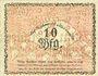 Banknoten Borkum. Gemeinde. Billet. 10 pfennig 10.6.1918