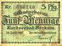 Banknoten Borkum. Gemeinde. Billet. 5 pfennig 28.6.1917