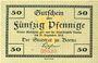 Banknoten Borna. Stadt. Billet. 50 pf n.d. - 31.12.1918