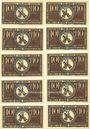 Banknoten Brehna. Stadt. Billets. 10 pfennig (10 ex) juillet 1921
