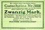 Banknoten Bremen. Atlas-Werke A.G., Billet. 20 mark 6.11.1918