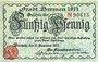 Banknoten Bremen. Finanzdeputation. Billet. 50 pf 15.12.1917, série N