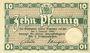 Banknoten Brunswick Herzoglich Braunschweigische-Lüneburgisches Finanzkollegium. Billet. 10 pf (1917)