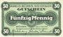Banknoten Büren. Kreis. Billet. 50 pf 3.7.1917