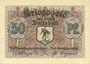 Banknoten Buttstädt. Stadt. Billet. 50 pfennig 1917