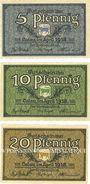 Banknoten Calau. Kreis. Billets. 5, 10, 20 pfennig avril 1918